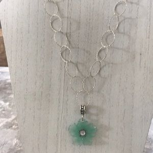 Genuine Sterling Silver Gemstone Necklace